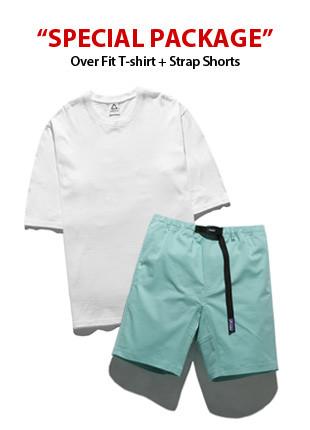 [PACKAGE]オーバーフィット半そでTシャツ(5color)+ストラップハーフパン(8color)パッケージ
