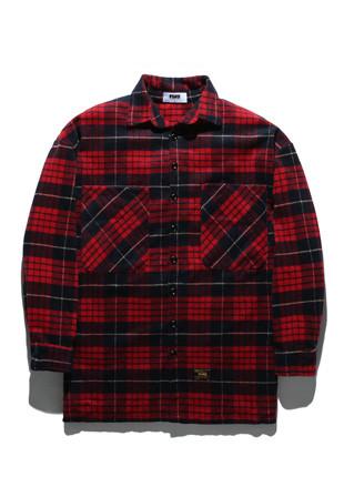 フルークチェックケシミルロンオーバーサイズシャツFLS017Z303